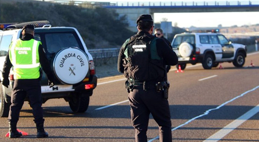 Guardia Civil atropellado y grave en control por el coronavirus