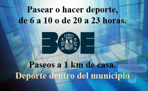 El BOE publica los requisitos para hacer deporte y pasear